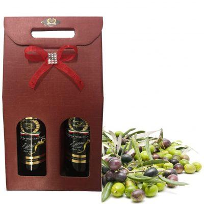 Pacco regalo olio di oliva Classico 750 ml 2 bottiglie Anno 2017